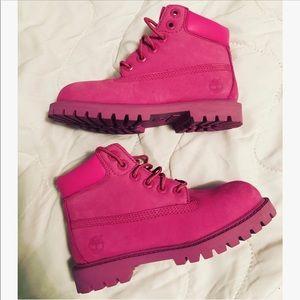 Toddler Pink Timberland Boots